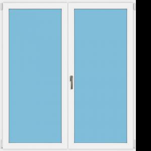Tür - zwei Flügel - ein oder zwei Griffe
