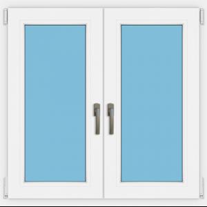 Fenster zweiflügelig zwei Griffe